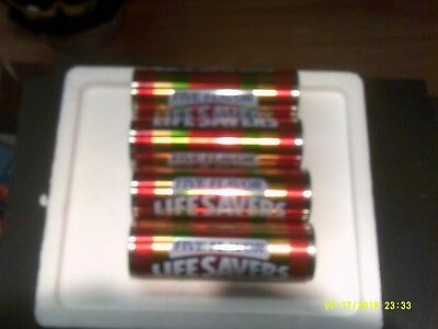 """Lot of 4  7"""" Life Savers Five Flavor Candy Collector's  Decorative Tin  No Candy"""