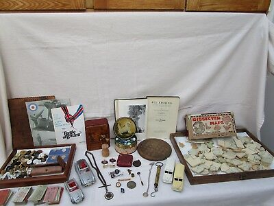 Antique - Vintage Mixed Job Lot Collectables - Army Puzzle - Cars  Various Items