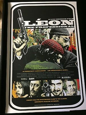 "LEON: THE PROFESSIONAL- James Rheem Davis 24"" x 36"" Cinema Overdrive #94/94!"