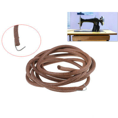 "72"" 183cm Leather Belt Antique Treadle Parts + Hook For Singer Sewing Machine KK"