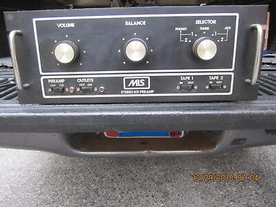 vintage preamplifier MLS 101  TUBE TYPE stereo preamp modeled after marantz 7