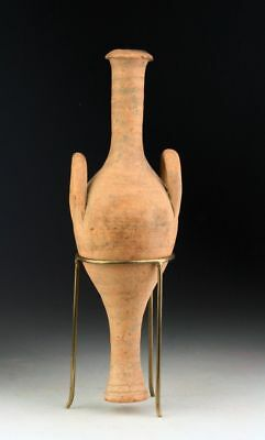"""*SC* RARE GREEK / CYPRUS TERRACOTTA """"SPINDLE FLASK"""", w. HANDLES, 2nd-1st cent BC"""
