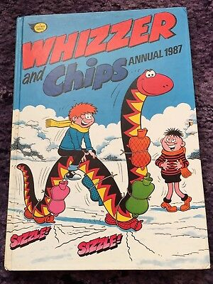 Whizzer & Chips Annual 1987 Fleetway Hardback Comic Book Magazine Vintage 80s