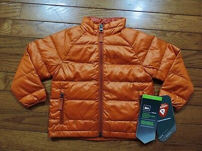 Baby Infant REI Stratocloud Primaloft Down Puffer Jacket Size 12 Month Orange