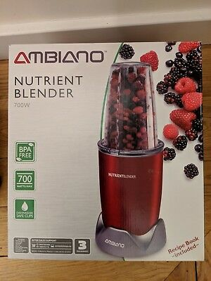 Ambiano nutrient blender like nutribullet 700w boxed used once