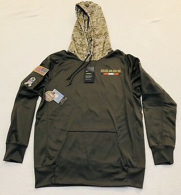 a9e368577 2017 Chicago Bears Men s NIKE STS Salute to Service Therma-Fit Hoodie Small  New
