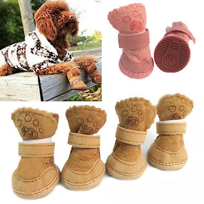 NEW Winter Small Dog Boots Anti-Slip Puppy Shoes Pet Dog Protective Snow Booties