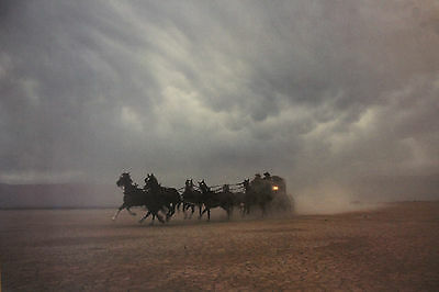 New Rare Wells Fargo Horse Poster Western Storm Chaser StageCoach Pony Express
