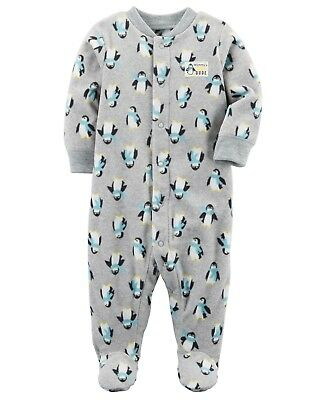 172abbcb5 NWT CARTER S BABY Boy Cool Dude 1 Pc Fleece Penguin Footed Sleeper ...