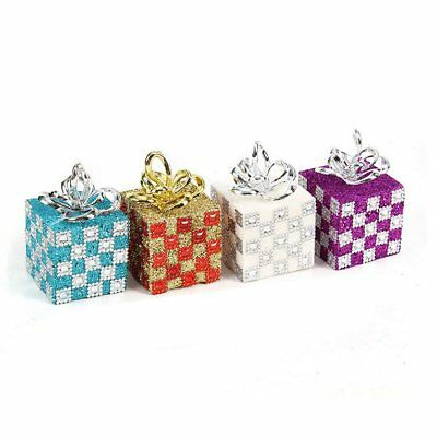 Gift Boxes Christmas Decoration Ornaments 10x6cm Gift Box Bubble Drill KQ