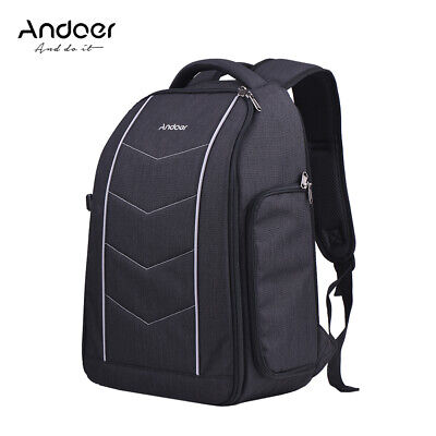 Andoer Professional 600D Fabric Material Camera Backpack Bag for 2 DSLR SLR T5X4