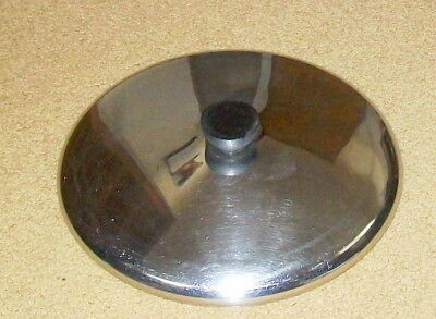 """Revere Ware Stainless Steel Lid - 9-3/4"""" Fits 10"""" Skillet & 10 Qt. Stock Pot"""