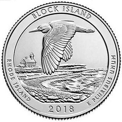 2018 P Block Island National Park Quarter - Brilliant Uncirculated - ATB