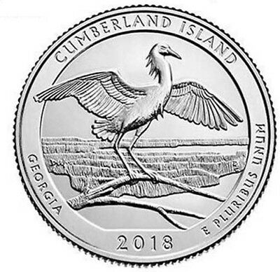 2018 D Cumberland Island Seashore Quarter - Brilliant Uncirculated - ATB