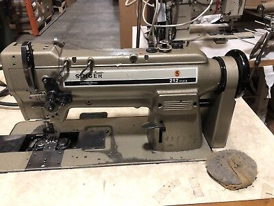 Singer 212 U141A  Industrial Double Needle Sewing Machine.