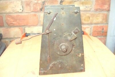 Clock Parts Fusee Striking   Clock Movement  Spare To  Repair  Wound Tight