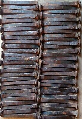 60 Vintage Railroad Spikes ALL HC, Some Rust, ALL Slightly Bent GREAT VALUE NICE