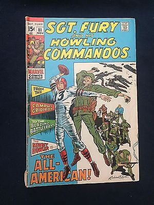 Sgt.fury And His Howling Commandos #81 Gd 3.0 1970 Severin Art