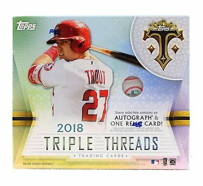 2018 Topps Triple Threads Baseball Factory Sealed Hobby Box