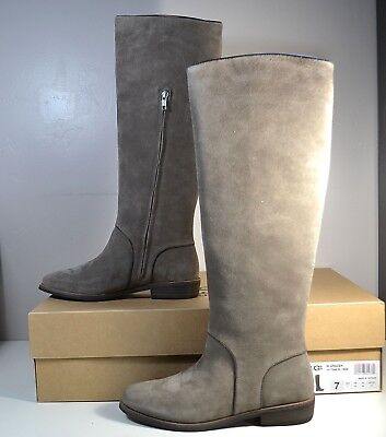 6aea82d8718 NWT UGGS UGG Australia Gracen Mouse Leather Knee High Heel Boots Sz ...