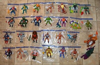 MOTU, Vintage Figures Lot, He-Man Set, Complete, Masters of the Universe weapons