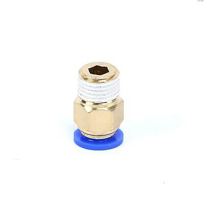 """SNS Brass Push To Connect Tube Fitting Male Straight-1/4 NPT """" Tube OD x 1/4""""  ("""