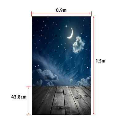 Andoer 1.5 * 0.9m/4.9 * 3.0ft Backdrop Photography Background Twinkle Moon F4W7