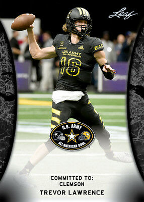 10 ct lot Trevor Lawrence 2018 Leaf US Army All American Rookie Cards