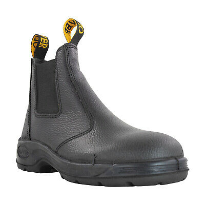 Military Mens Black OLIVER Elastic Sided Safety Boots Size 5.5