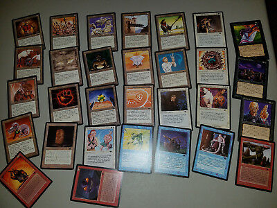 32 Antiquities NM-MP Partial Set Magic: the gathering Deckmaster Cards.
