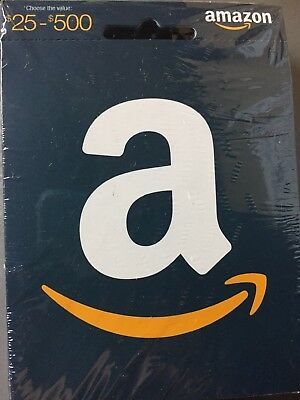 10 Unopened, unactivated, Amazon gift cards.