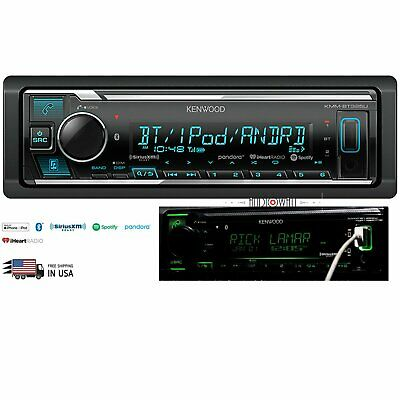 Kenwood Kmm-Bt325U Mosfet Bluetooth Digital Stereo Receiver - Front Usb/ Aux In
