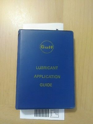 Vintage 1972 Gulf Oil Lubrication Guide
