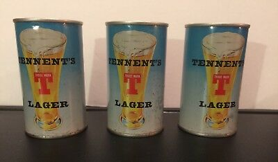 Tennent's Lager, Breweriana, Vintage beer can, Vintage beer, Rare beer can