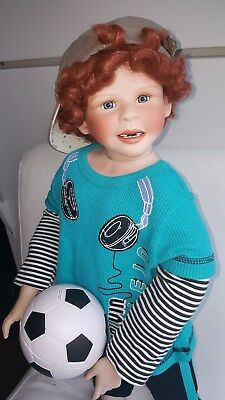 "Kaye Wiggs Porcelain boy Nathan 29"" with additional outfits! GREAT Condition!"