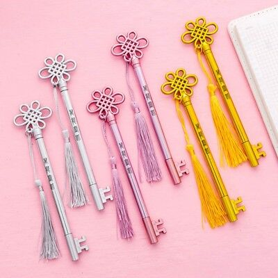 1PCS Chinese Style Fringed Key Pendant Gel Pens Novelty Cute Pen School Supplies