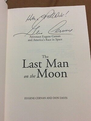"Eugene ""Gene"" Cernan Signed Book ""The Last Man On The Moon"" Astronaut"