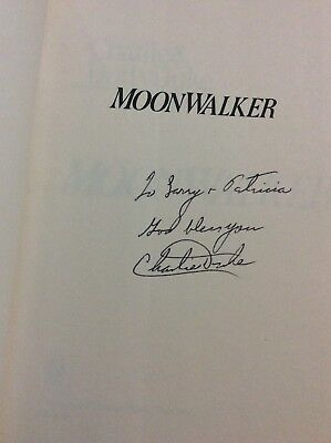 "Charlie Duke Signed Book ""MoonWalker"" Astronaut"