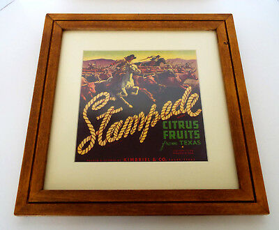 STAMPEDE CITRUS FRUITS Print Texas Kimbriel Co Wood Frame Matted Non Glare Glass