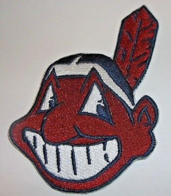 "Cleveland Indians Embroidered PATCH~3 3/4"" x 2 1/2""~Iron Sew On~MLB~Ships FREE"
