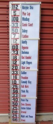 1970s  Vintage BOOKIE'S  BETTING BOARD  (24 runners)  Fractional Odds