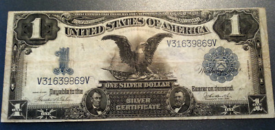 SERIES 1899 BLACK EAGLE  $1 One Dollar USA SILVER CERTIFICATE Large Note