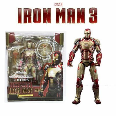 S.H.Figuarts SHF Marvel Iron Man 3 Mark 42 MK42 Avengers Stage Action Figure Toy