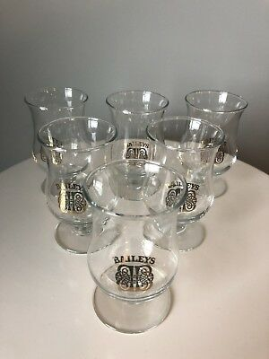 Vintage Baileys Irish Cream Stemmed Shot Glasses Set Of 6