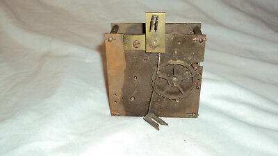 Antique French 8 day time strike wall mantle clock movement parts repair