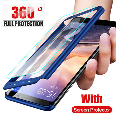 For Huawei Mate20 Pro Lite 360° Full Cover Hard Shockproof Case+Screen Protector