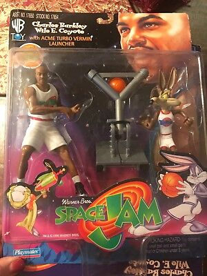 Film- & TV-Spielzeug 1997 Space Jam Looney Tunes Charles Barkley Wile E.Coyote Acme Turbo Ungeziefer