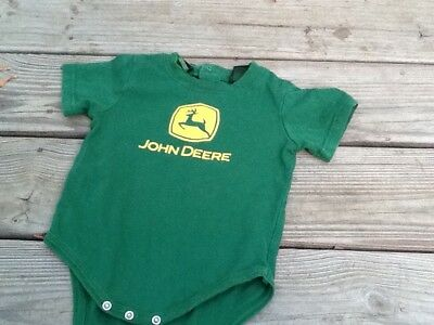 john deere 12 month clothing lot romper and pair of JD socks boy or daddy's girl