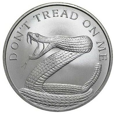 2018 1 oz Silver Shield Round - Don't Tread On Me Snake .999