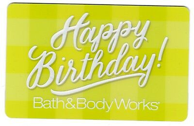 Bath & Body Works no value collectible gift card mint #02 Happy Birthday